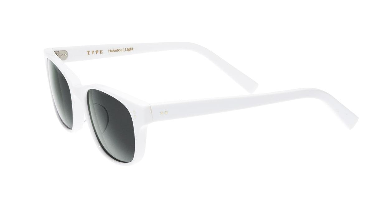 TYPE Helvetica Light-White Sunglasses [鯖江産/ウェリントン]  2