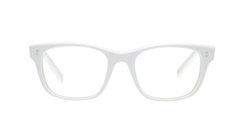 TYPE Helvetica Regular-White [鯖江産/ウェリントン/白]