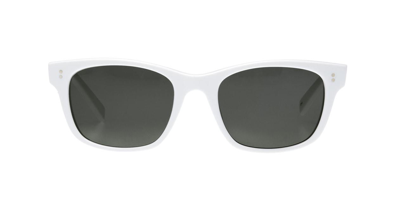 TYPE Helvetica Regular-White Sunglasses [鯖江産/ウェリントン]