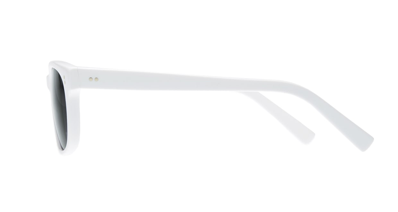TYPE Helvetica Regular-White Sunglasses [鯖江産/ウェリントン]  1