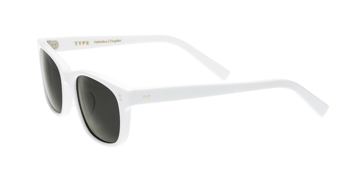 TYPE Helvetica Regular-White Sunglasses [鯖江産/ウェリントン]  2
