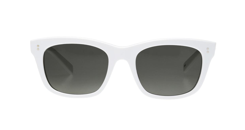 TYPE Helvetica Bold-White Sunglasses [鯖江産/ウェリントン]