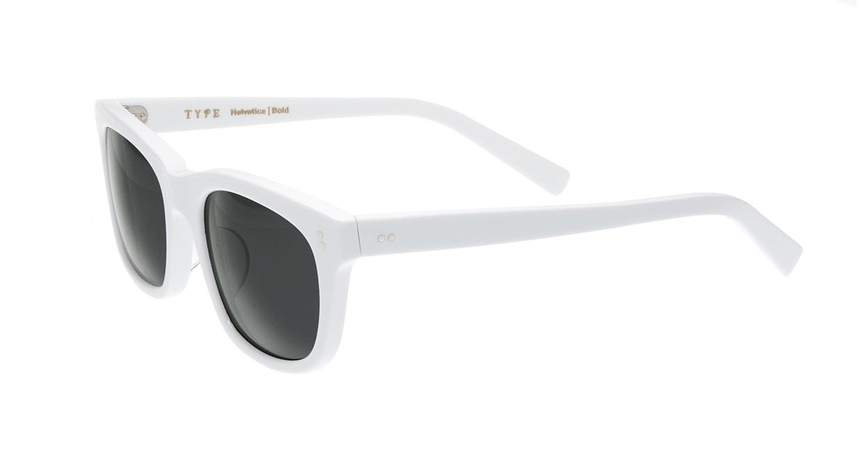 TYPE Helvetica Bold-White Sunglasses [鯖江産/ウェリントン]  2
