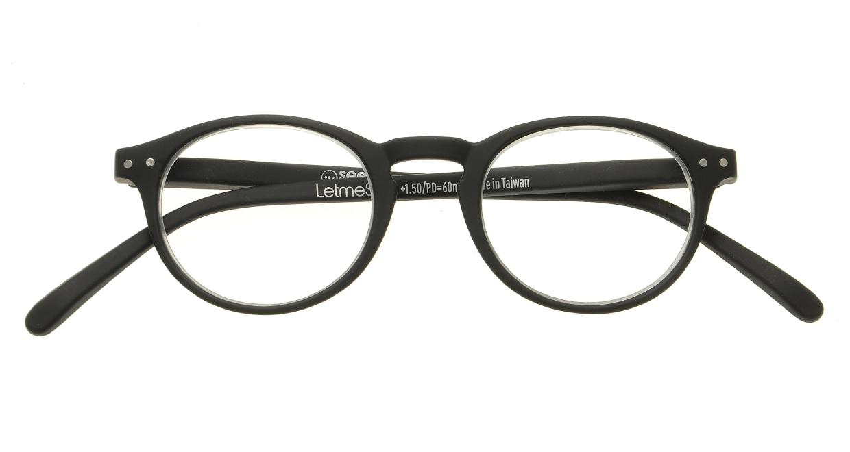 イジピジ リーディンググラス +1.5 #A-BLACK SOFT [老眼鏡/黒縁/丸メガネ]  3