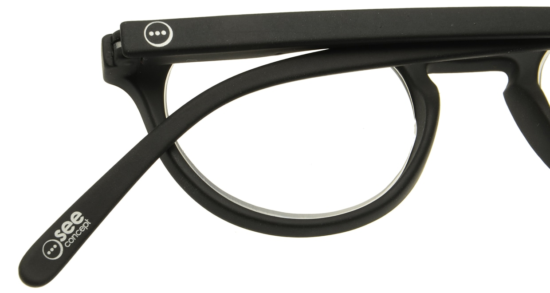 イジピジ リーディンググラス +1.5 #A-BLACK SOFT [老眼鏡/黒縁/丸メガネ]  4