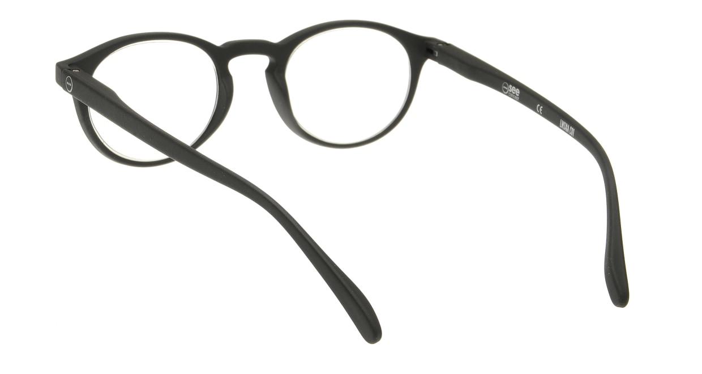 イジピジ リーディンググラス +2.0 #A-BLACK SOFT [老眼鏡/黒縁/丸メガネ]  2