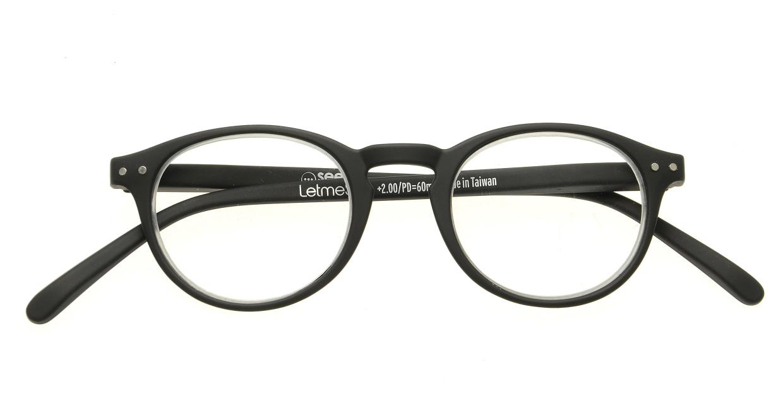 イジピジ リーディンググラス +2.0 #A-BLACK SOFT [老眼鏡/黒縁/丸メガネ]  3
