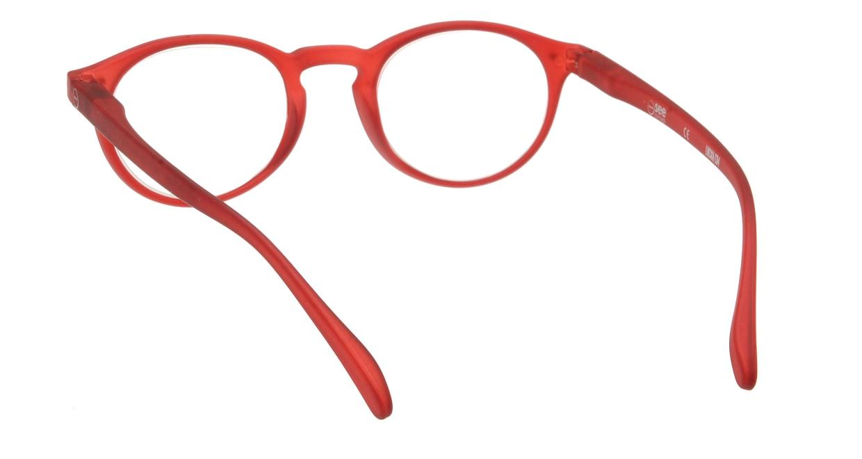 イジピジ リーディンググラス +1.5 #A-RED CRYSTAL SOFT [老眼鏡/丸メガネ/赤]  2