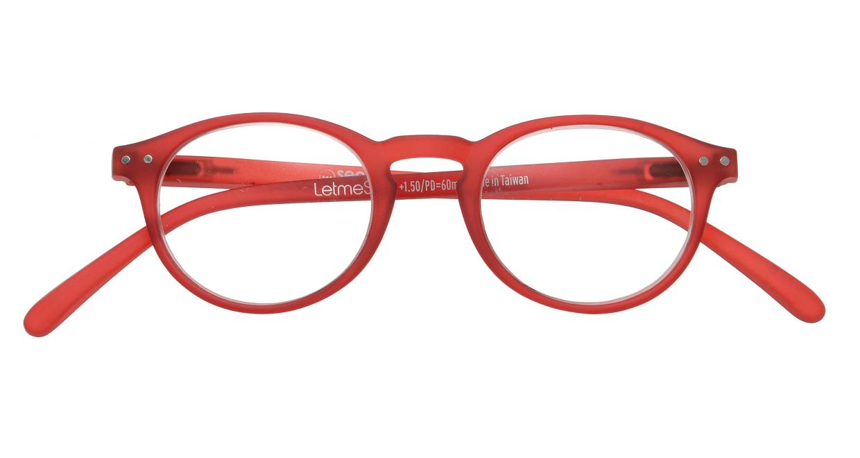 イジピジ リーディンググラス +1.5 #A-RED CRYSTAL SOFT [老眼鏡/丸メガネ/赤]  3