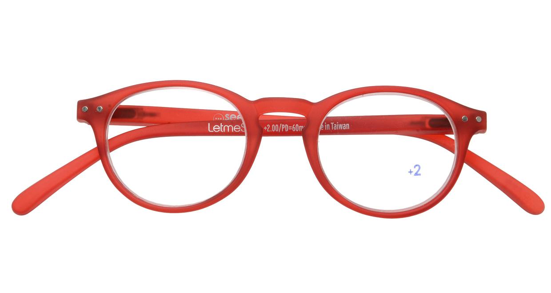 イジピジ リーディンググラス +2.0 #A-RED CRYSTAL SOFT [老眼鏡/丸メガネ/赤]  3