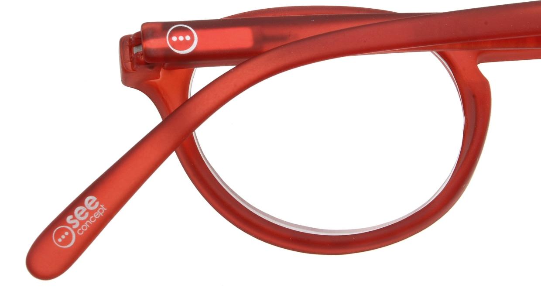 イジピジ リーディンググラス +2.0 #A-RED CRYSTAL SOFT [老眼鏡/丸メガネ/赤]  4
