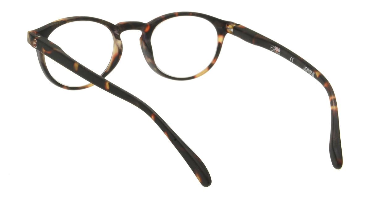 イジピジ リーディンググラス +1.5 #A-TORTOISE SOFT [老眼鏡/丸メガネ/べっ甲柄]  2