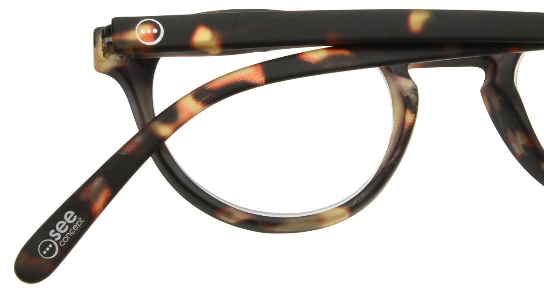 イジピジ リーディンググラス +2.0 #A-TORTOISE SOFT [老眼鏡/丸メガネ/べっ甲柄]  4