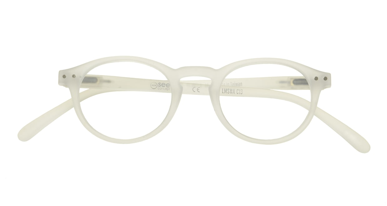 イジピジ リーディンググラス +1.5 #A-WHITE CRYSTAL SOFT [老眼鏡/丸メガネ/白]  3