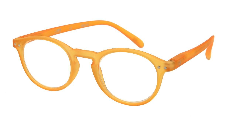 イジピジ リーディンググラス +1.5 #A-YELLOW CRYSTAL SOFT [老眼鏡/丸メガネ/黄色]