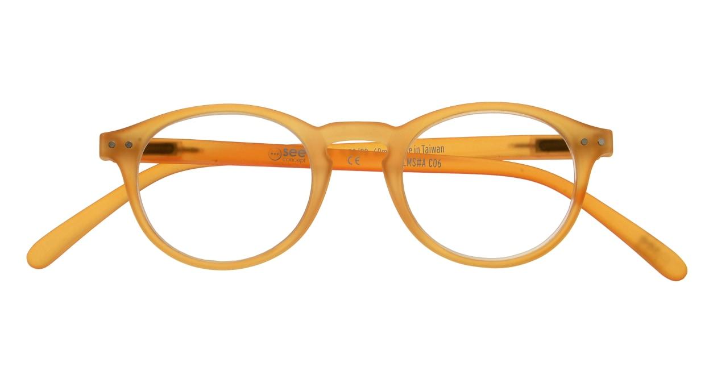 イジピジ リーディンググラス +1.5 #A-YELLOW CRYSTAL SOFT [老眼鏡/丸メガネ/黄色]  3
