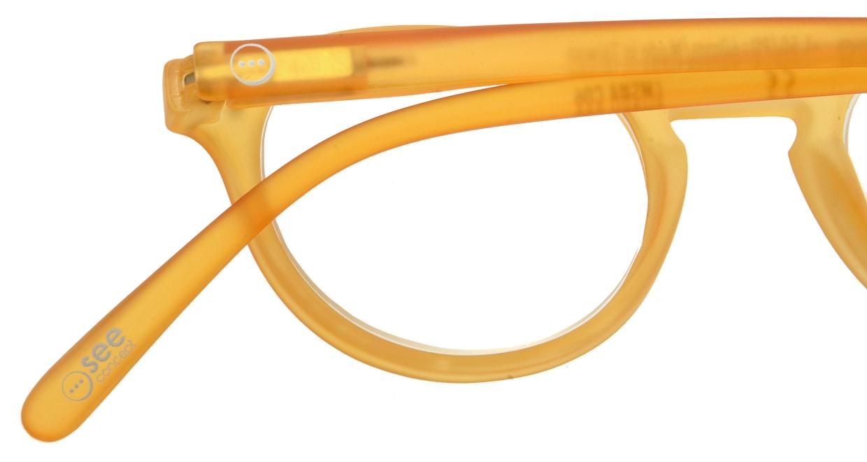 イジピジ リーディンググラス +1.5 #A-YELLOW CRYSTAL SOFT [老眼鏡/丸メガネ/黄色]  4