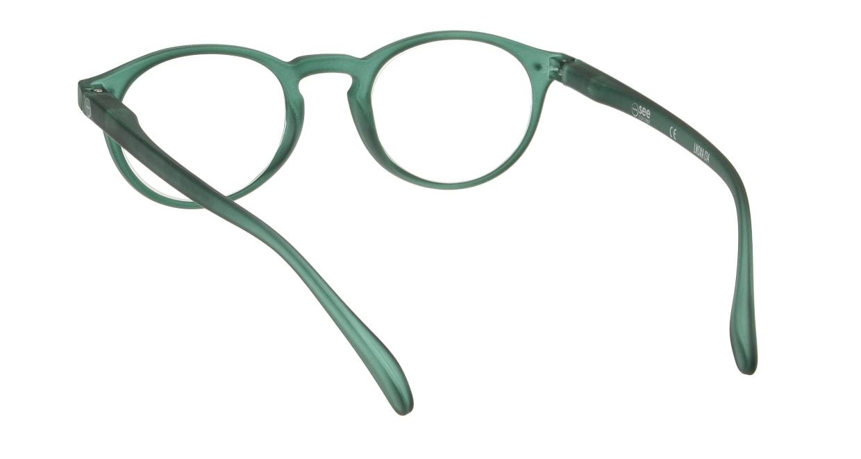 イジピジ リーディンググラス +1.5 #A-GREEN CRYSTAL SOFT [老眼鏡/丸メガネ/緑]  2
