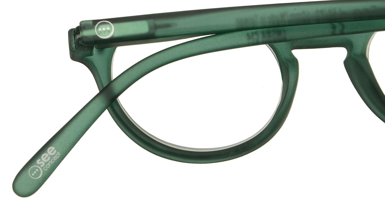 イジピジ リーディンググラス +1.5 #A-GREEN CRYSTAL SOFT [老眼鏡/丸メガネ/緑]  4