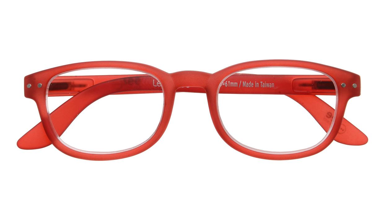 イジピジ リーディンググラス +1.5 #B-RED CRYSTAL SOFT [老眼鏡/ウェリントン/赤]  3