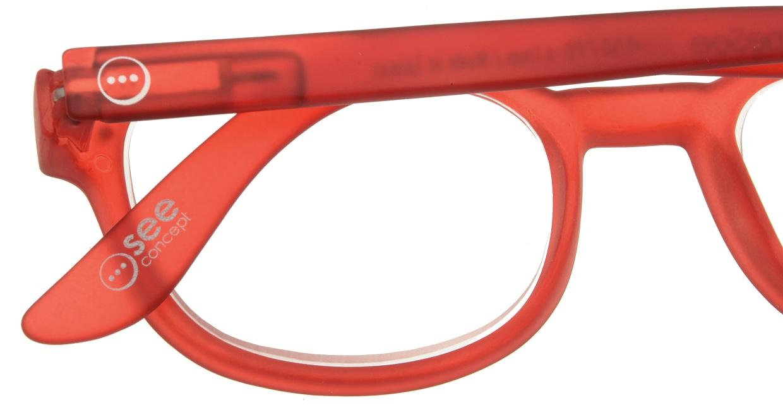 イジピジ リーディンググラス +1.5 #B-RED CRYSTAL SOFT [老眼鏡/ウェリントン/赤]  4