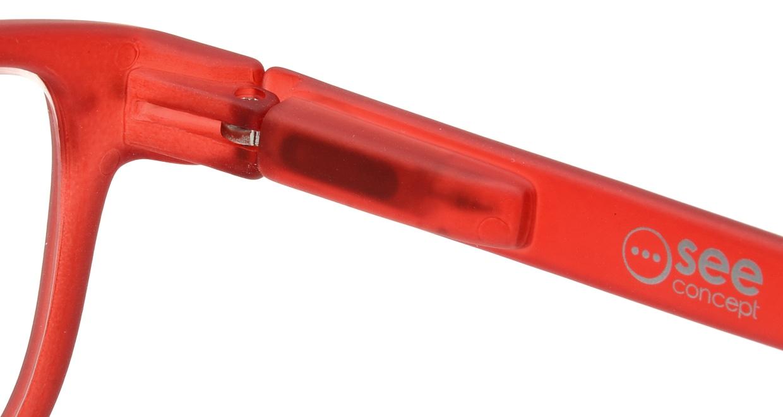 イジピジ リーディンググラス +1.5 #B-RED CRYSTAL SOFT [老眼鏡/ウェリントン/赤]  5