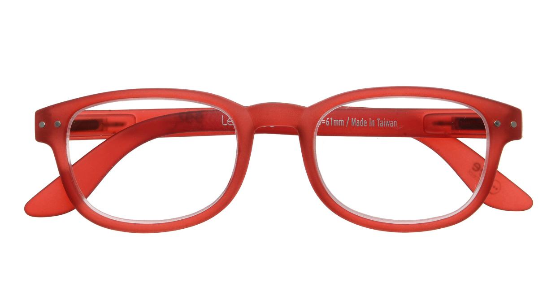 イジピジ リーディンググラス +2.0 #B-RED CRYSTAL SOFT [老眼鏡/ウェリントン/赤]  3