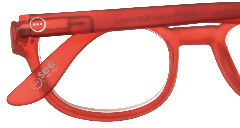イジピジ リーディンググラス +2.0 #B-RED CRYSTAL SOFT [老眼鏡/ウェリントン/赤]  4