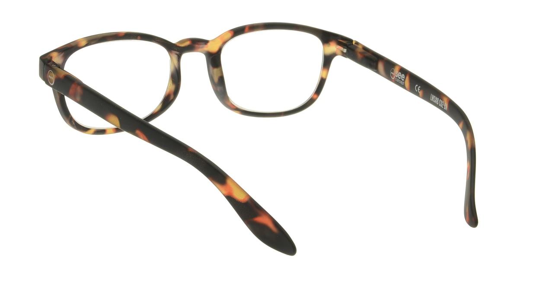 イジピジ リーディンググラス +1.5 #B-TORTOISE SOFT [老眼鏡/ウェリントン/べっ甲柄]  2