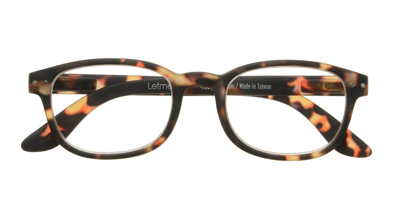 イジピジ リーディンググラス +2.0 #B-TORTOISE SOFT [老眼鏡/ウェリントン/べっ甲柄]  3