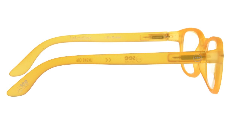 イジピジ リーディンググラス +1.5 #B-YELLOW CRYSTAL SOFT [老眼鏡/ウェリントン/オレンジ]  1