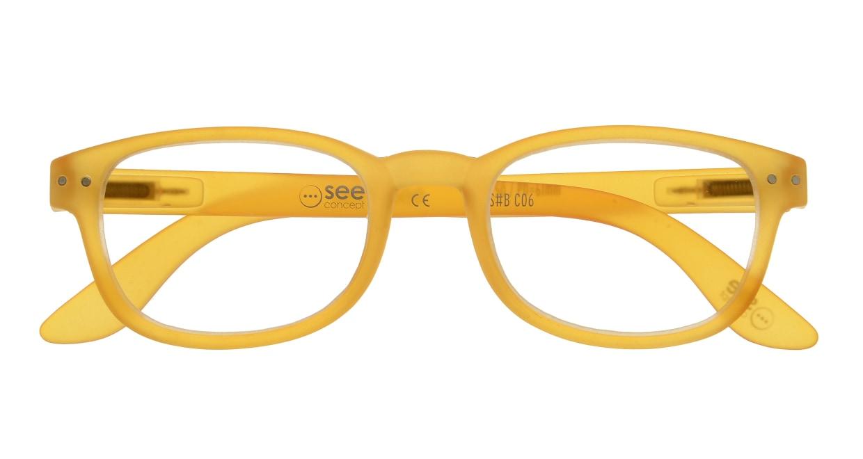 イジピジ リーディンググラス +1.5 #B-YELLOW CRYSTAL SOFT [老眼鏡/ウェリントン/オレンジ]  3