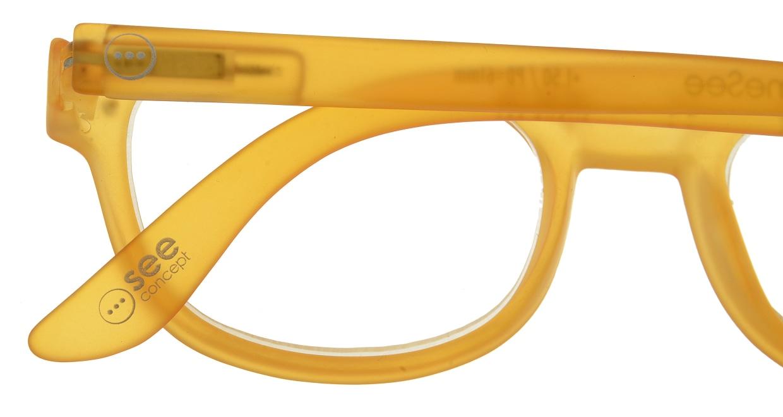イジピジ リーディンググラス +1.5 #B-YELLOW CRYSTAL SOFT [老眼鏡/ウェリントン/オレンジ]  4