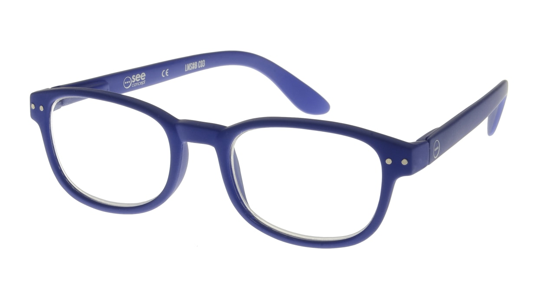 イジピジ リーディンググラス +1.5 #B-NAVY BLUE SOFT [老眼鏡/ウェリントン/青]