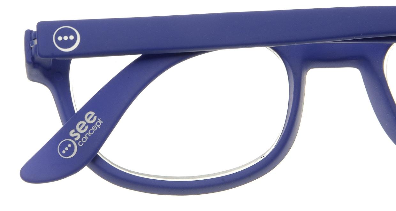 イジピジ リーディンググラス +1.5 #B-NAVY BLUE SOFT [老眼鏡/ウェリントン/青]  4