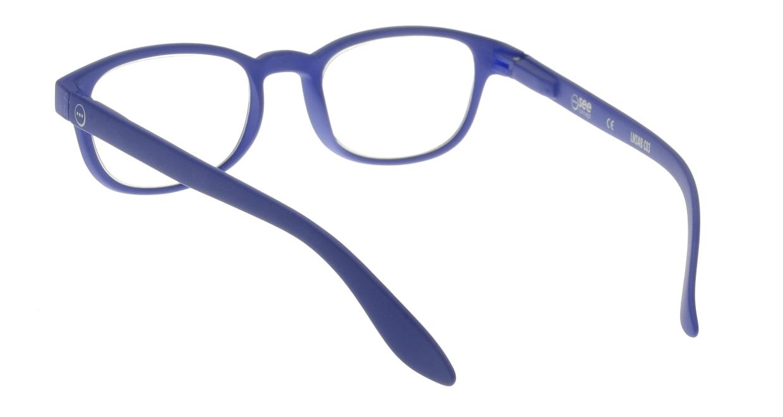 イジピジ リーディンググラス +2.0 #B-NAVY BLUE SOFT [老眼鏡/ウェリントン/青]  2