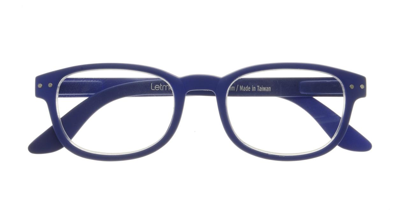 イジピジ リーディンググラス +2.0 #B-NAVY BLUE SOFT [老眼鏡/ウェリントン/青]  3