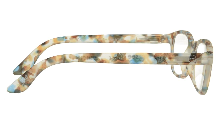 イジピジ リーディンググラス +1.5 #B-BLUE TORTOISE SOFT [老眼鏡/ウェリントン/派手]  1