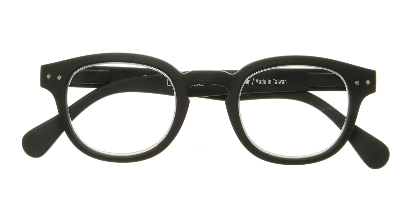 イジピジ リーディンググラス +1.5 #C-BLACK SOFT [老眼鏡/黒縁/丸メガネ]  3