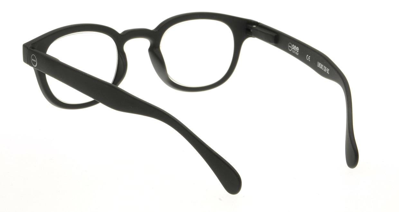 イジピジ リーディンググラス +2.0 #C-BLACK SOFT [老眼鏡/黒縁/丸メガネ]  2