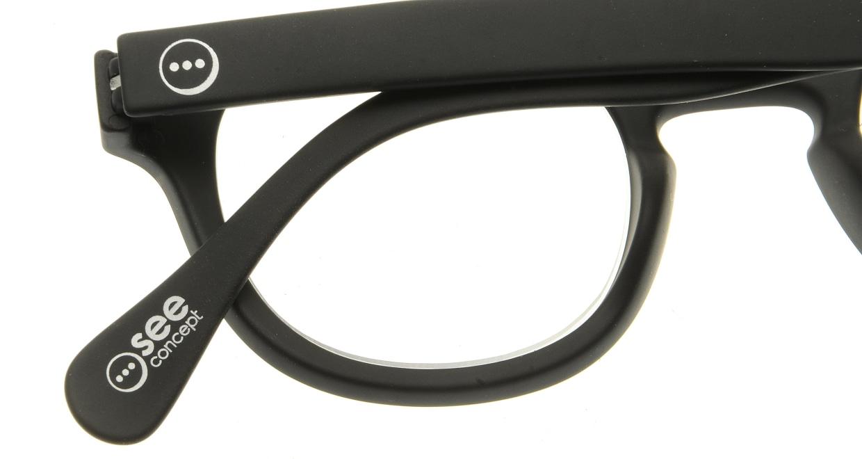 イジピジ リーディンググラス +2.0 #C-BLACK SOFT [老眼鏡/黒縁/丸メガネ]  4