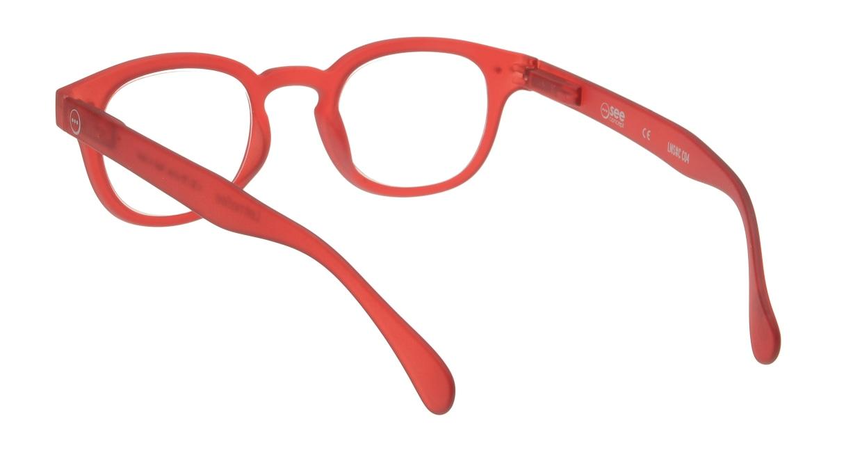 イジピジ リーディンググラス +2.0 #C-RED CRYSTAL SOFT [老眼鏡/丸メガネ/赤]  2