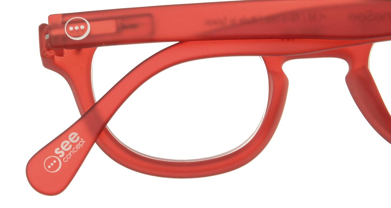 イジピジ リーディンググラス +2.0 #C-RED CRYSTAL SOFT [老眼鏡/丸メガネ/赤]  4