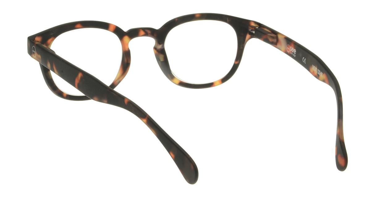 イジピジ リーディンググラス +2.0 #C-TORTOISE SOFT [老眼鏡/丸メガネ/べっ甲柄]  2