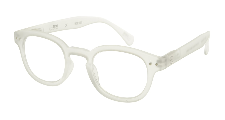 イジピジ リーディンググラス +2.0 #C-WHITE CRYSTAL SOFT [老眼鏡/丸メガネ/白]