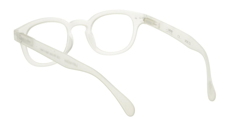 イジピジ リーディンググラス +2.0 #C-WHITE CRYSTAL SOFT [老眼鏡/丸メガネ/白]  2