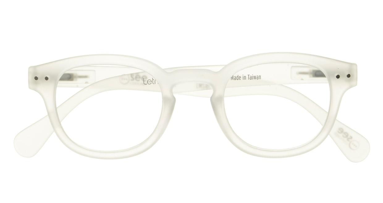 イジピジ リーディンググラス +2.0 #C-WHITE CRYSTAL SOFT [老眼鏡/丸メガネ/白]  3