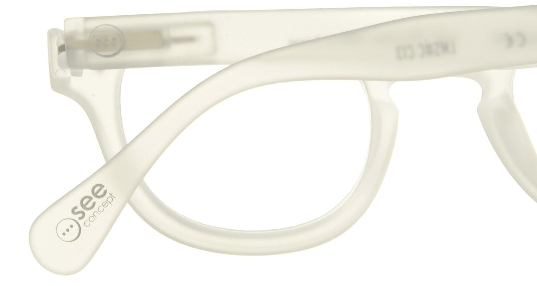 イジピジ リーディンググラス +2.0 #C-WHITE CRYSTAL SOFT [老眼鏡/丸メガネ/白]  4