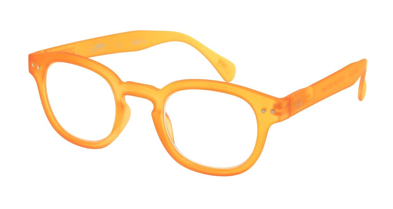 イジピジ リーディンググラス +1.5 #C-YELLOW CRYSTAL SOFT [老眼鏡/丸メガネ/オレンジ]