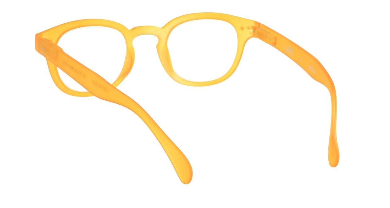 イジピジ リーディンググラス +1.5 #C-YELLOW CRYSTAL SOFT [老眼鏡/丸メガネ/オレンジ]  2